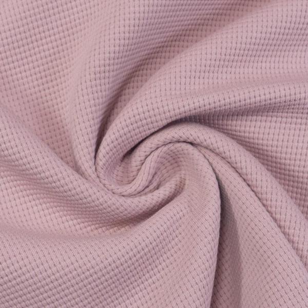 Waffelstrick Jersey Uni dusty lavendel