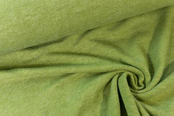 Strick-Jersey Angorastyle kiwi- super kuschelig Ökotex 100