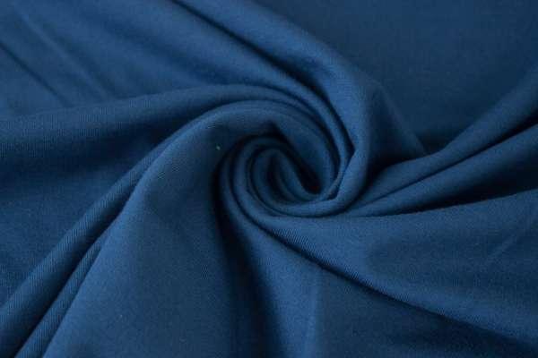 Bündchen Feinstrick Uni dunkles jeans Ökotex 100