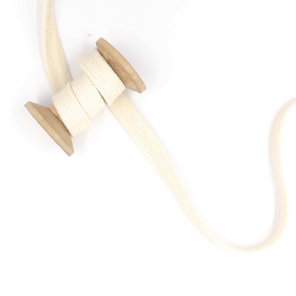 Flachkordel 20mm - Hoodie Kordel ecru