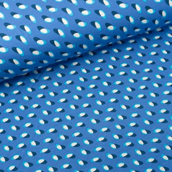 Viskosejersey Ovale blau