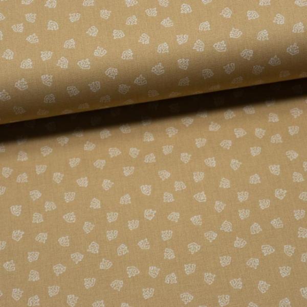 Baumwollwebware Mini Anchor beige