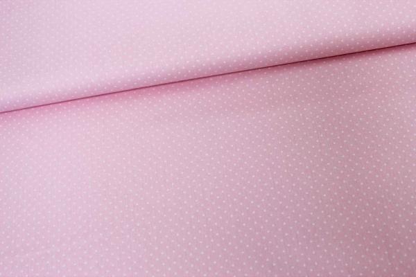 Baumwolle/Webware Petit Dots rosa Ökotex 100
