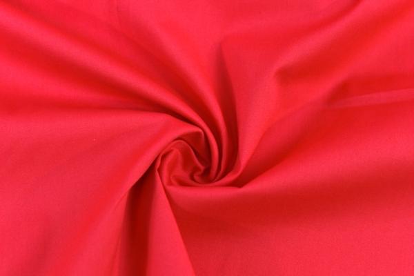Baumwolle Poplin Stretch Uni knitterarm rot Ökotex 100