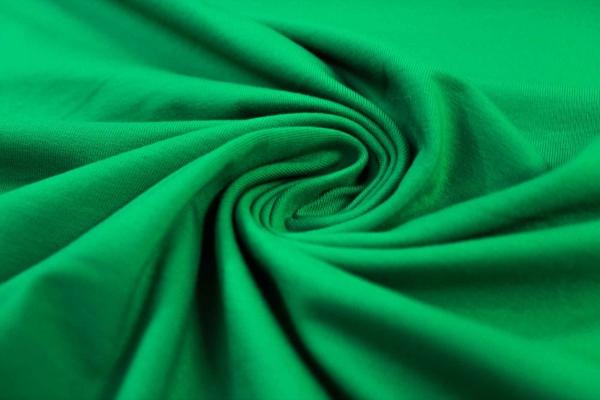 Organic Baumwolljersey Uni grün Ökotex 100