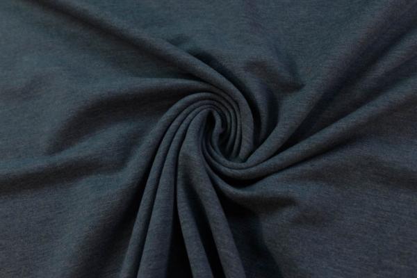 Organic Sweat MELIERT jeansblau unangeraut - French Terry Ökotex 100