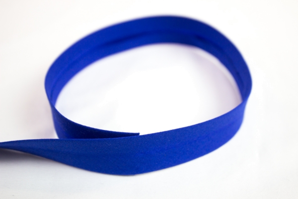 Elastisches Schrägband vorgefalzt royalblau Ökotex 100