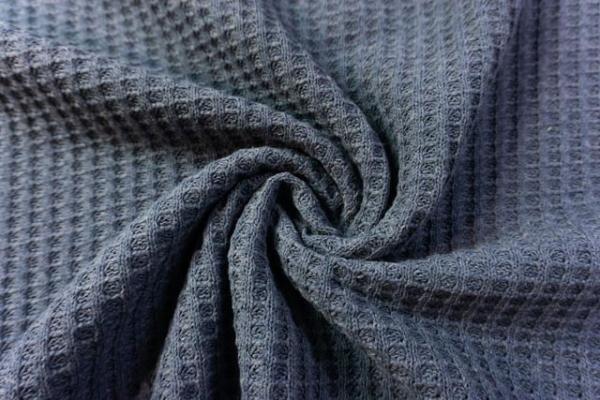 Pique Kuschelstrick Luxor jeansblau Ökotex 100