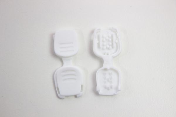 Kordelende weiß für Hoodiekordel Flachkordel Kunststoff