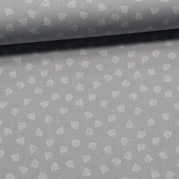 Baumwollwebware Mini Anchor grau