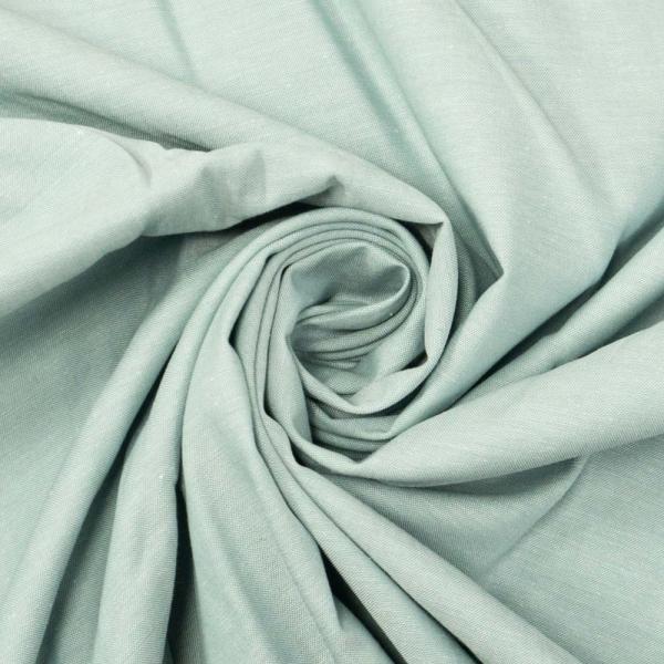 Baumwoll Popeline MELIERT dusty mint