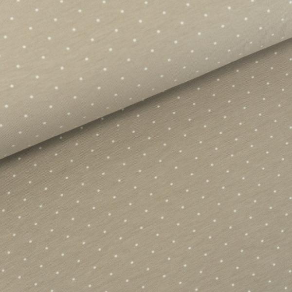 Baumwolljersey Small Dots beige