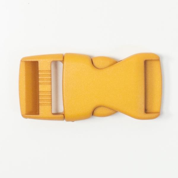 Rucksackschließe senfgelb 25mm Kunststoff