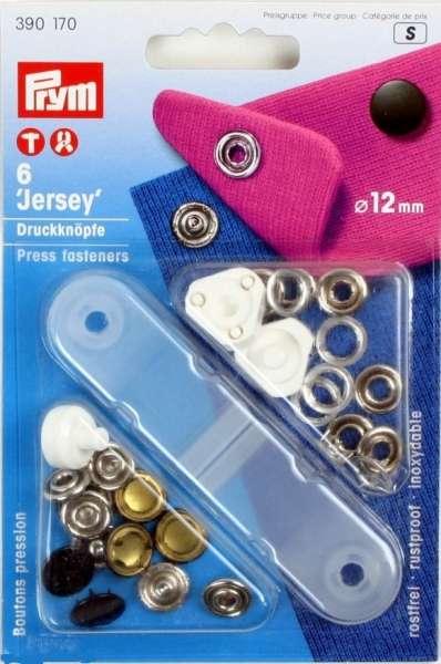 Jersey Druckknöpfe schwarz 12mm
