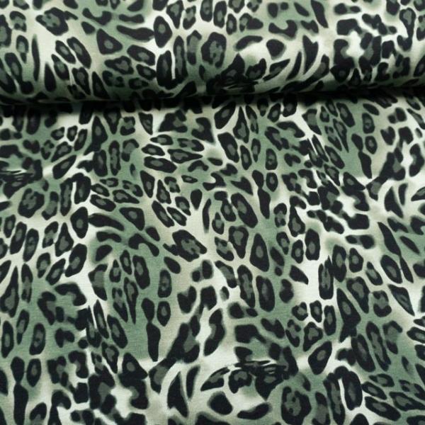 Viskosejersey Panther khaki