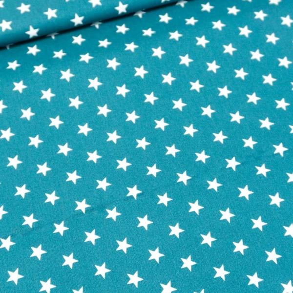 Baumwolle/Webware Stars jeansblau Ökotex 100
