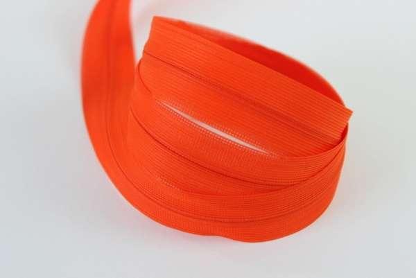 Nahtverdeckter Reißverschluss orange unsichtbar Ökotex 100