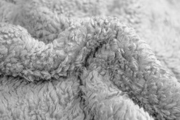 Teddyplüsch hellgrau 100% Baumwolle Ökotex 100