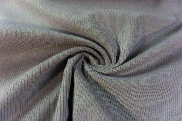 Feincord Stretch grau SCHWER 320gr/m² ÖkoTex 100