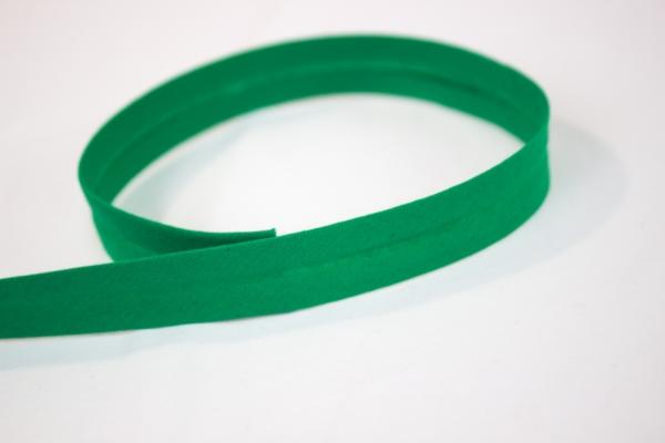 Schrägband vorgefalzt grün Ökotex 100
