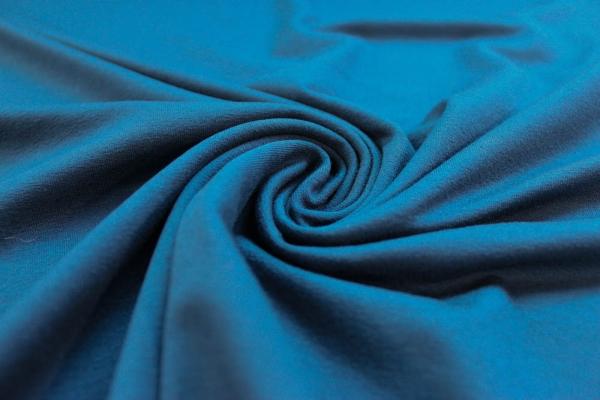 Viskosejersey Uni De Luxe indigo jeansblau Ökotex 100
