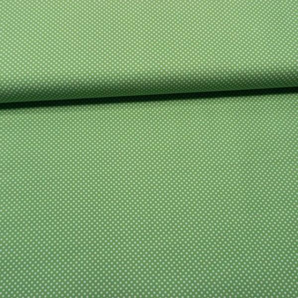 Baumwollwebware Mini Dots apfelgrün