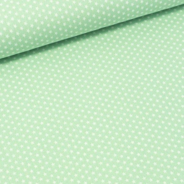Baumwollwebware Mini Sterne mint