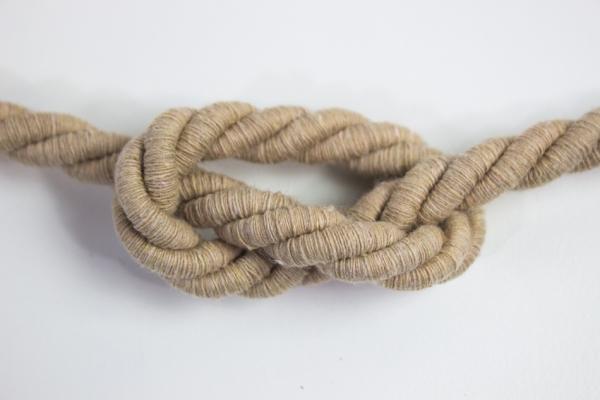 10mm Kordel gedreht beige Atlaskordel Baumwolle Ökotex 100