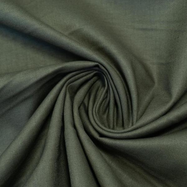 Baumwollwebware Fahnentuch Uni khaki