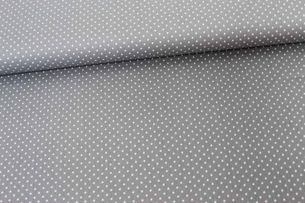 Baumwolle/Webware Petit Dots grau Ökotex 100