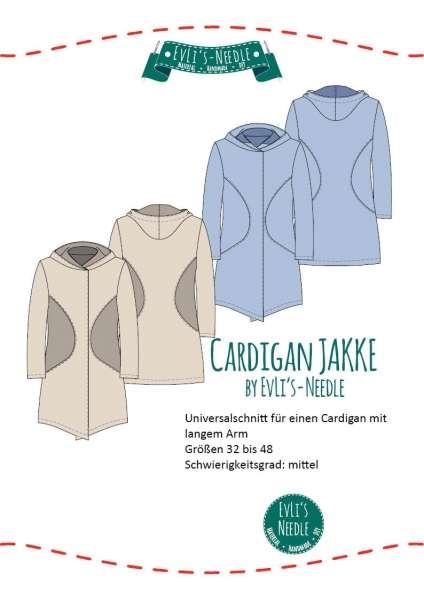 A0 Schnittbogen Damen Cardigan JAKKE by EvLi's-Needle