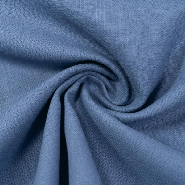Premium Leinen UNI dusty blue