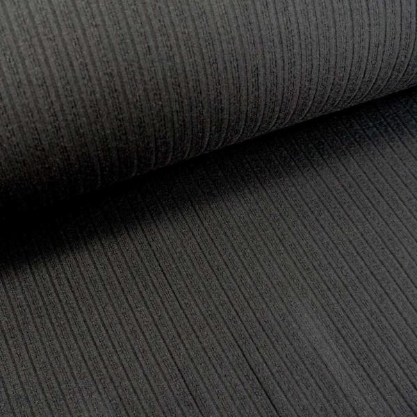 Jaquard Ripp-Knit Smooth schwarz