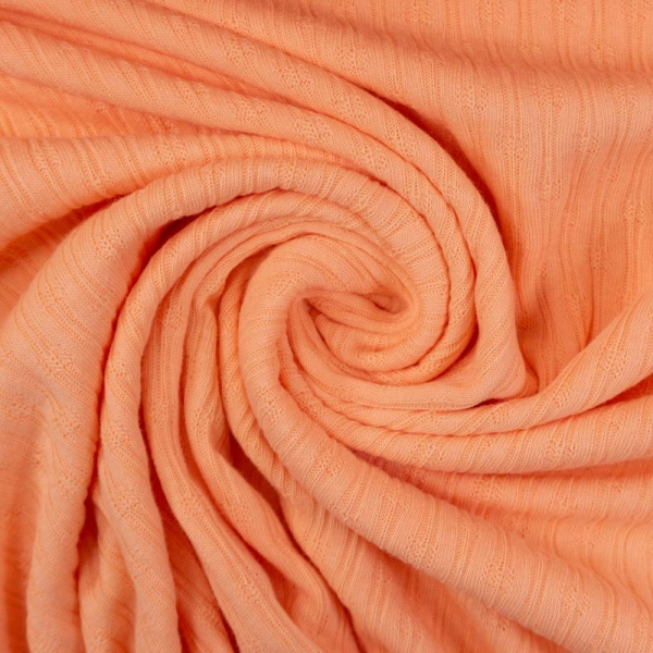 Baumwollstrick Jersey Stripeknit apricot