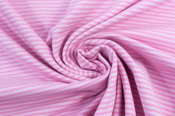 Baby Stripes Jersey rosa-dunkelrosa ca. 0,2 cm Öko Tex 100