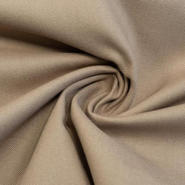 Canvas Premium Uni beige 100% Baumwolle