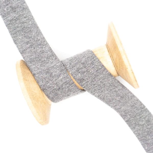 Jersey Schrägband Deluxe dunkelgrau-meliert