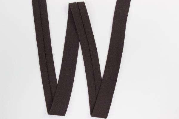 Jersey Schrägband vorgefalzt dunkelbraun Ökotex 100