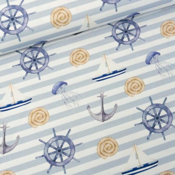 Canvas DIGITAL Maritime Vibes hellblau