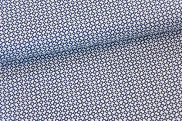 Baumwollwebware Kleine Flakes navy Ökotex 100