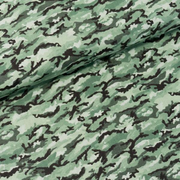 Baumwollwebware Italienische Kollektion Camouflage khaki