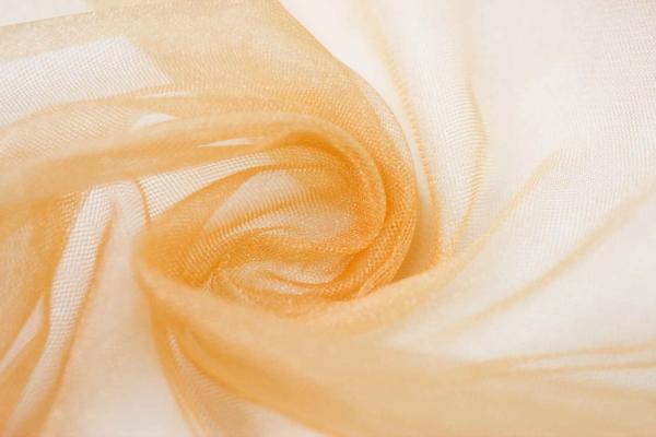 Glamour Softtüll Schleiertüll gold elastisch Ökotex 100
