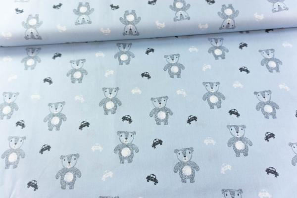 Baumwolle/Webware Cute Bears blau Ökotex 100