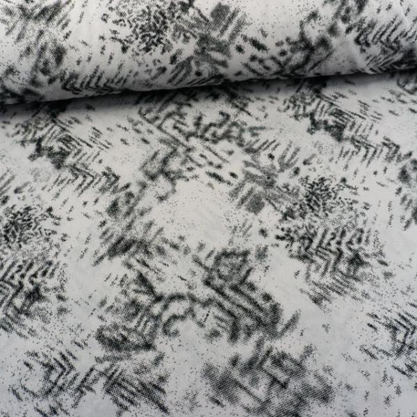 Chiffon transparent grau-schwarz