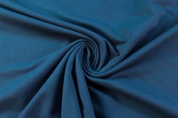 Organic Sweat jeansblau mittel unangeraut - French Terry Ökotex 100