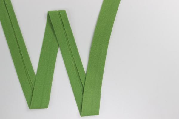 Jersey Schrägband vorgefalzt grün Ökotex 100