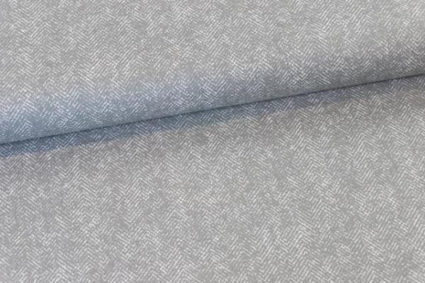 Baumwollwebware Fischgrät grau Ökotex 100