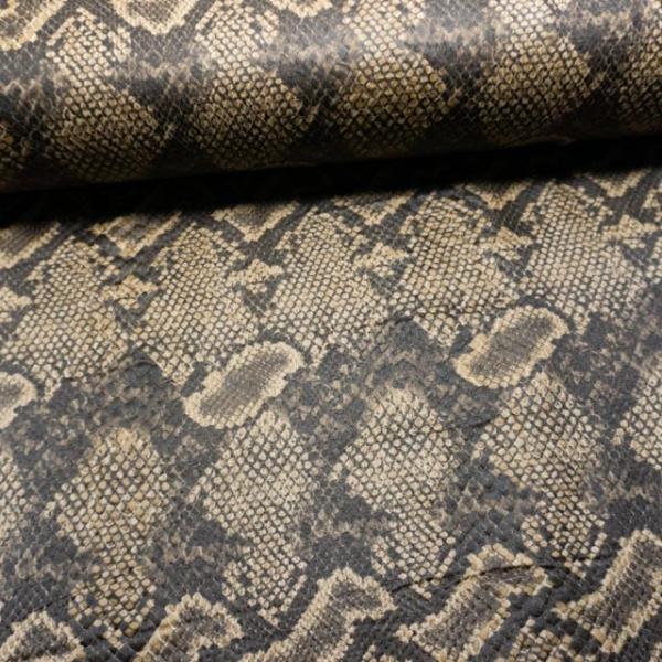 Lederjersey Snake hellbraun-schwarz