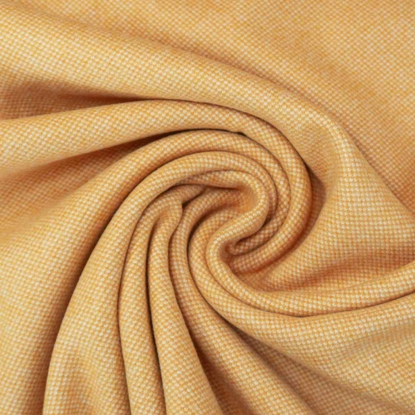 Jacquard Tweed Strick Schwer senf