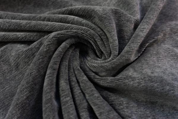 Jersey Feincord Baumwolle mittelgrau meliert ÖkoTex 100